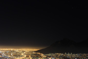 City lights of the Mother City.