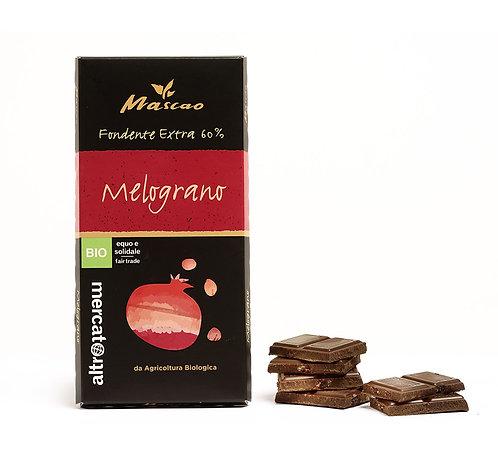 Mascao Extra dark chocolate  - pomegranate - 80g