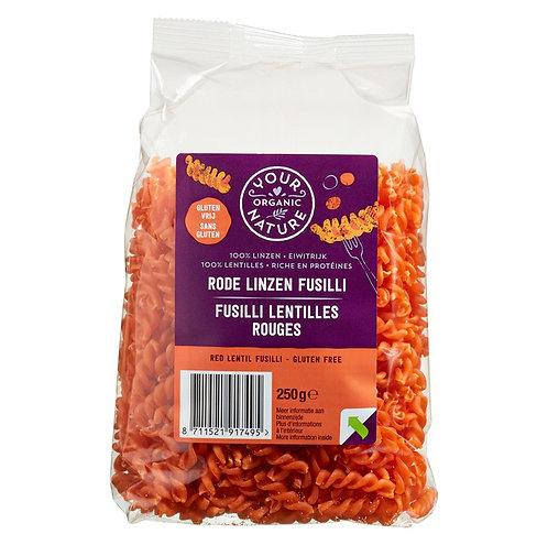Red lentils fusilli (gluten free) 250g