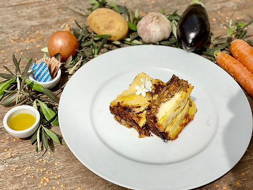 Organic Lentil Moussaka (V, GF)