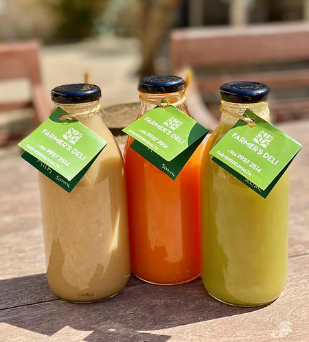 Bundle of 3 (smoothie, orange, apple & carrot, fennel) x 500ml each