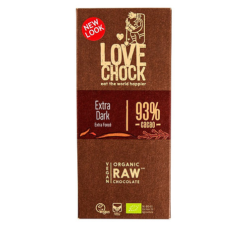 Lovechock Raw Choc - Raw chocolate 93% pure cacao - 70g