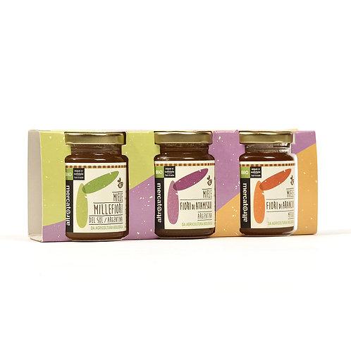Selection of single & multiple blossom honey 125g x 3