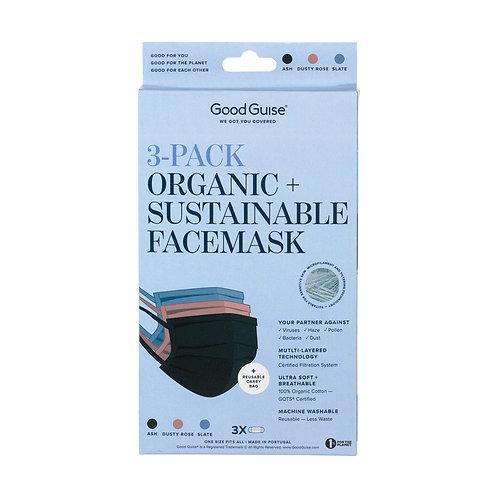 Organic & Sustainable Face Mask x 3pcs