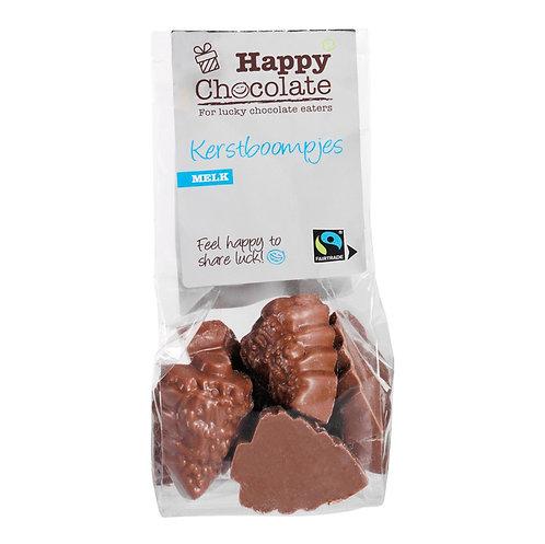 Organic milk Chocolate Christmas Trees – 100g