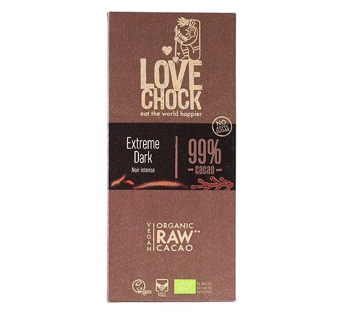 Lovechock Raw Choc - Extreme dark 99% - 70g