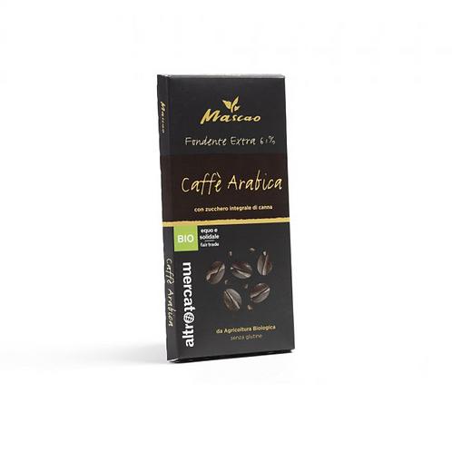 Mascao dark chocolate (61%) with arabica coffee 100g