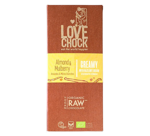 Lovechock Raw Choc - Mylk almond & mulberry - 70g