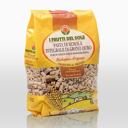 Wholewheat ditalini (Frutti del Sole) - 500g