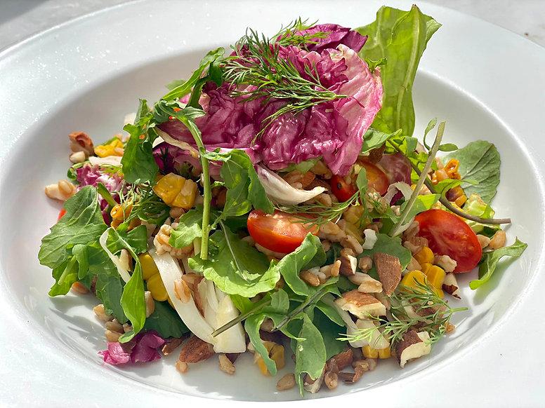 Farro & Garden Herbs Salad with Sweetcor