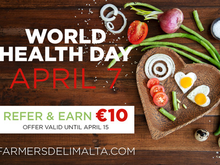 Refer us to a friend and you both earn €10 to spend on organic products