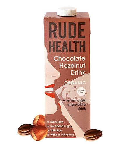 Rude Health Chocolate & Hazelnut Drink - 1litre