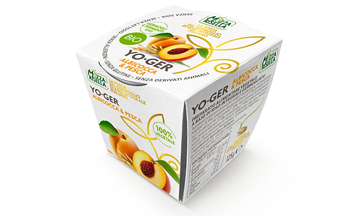Peach & Apricot Rice-based Yoghurt - 125g