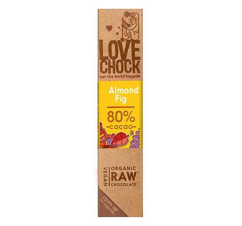 Lovechock Raw Choc - Almond & Fig - 40g