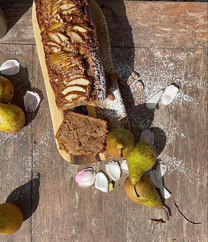 Cinnamon-Spiced Pear Cake (Vegan)
