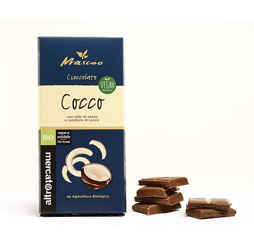 Mascao vegan chocolate with coconut milk and coconut sugar – 80g