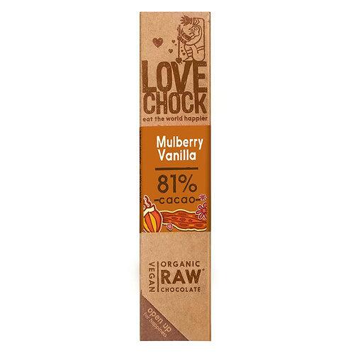 Lovechock Raw Choc - Mulberry Vanilla - 40g