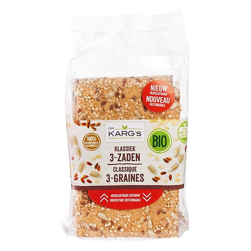3-seed Crackers - 200g (Dr. Karg's)