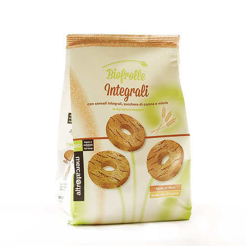 Biscuits with wholewheat cereals, can sugar & honey (Biofrolle) – 250g