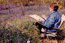 Marjorie -  painting outdoors-1.jpg