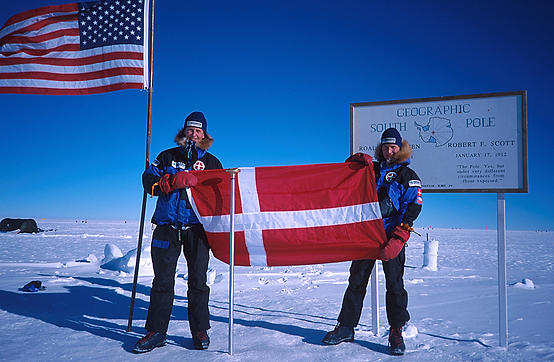 At the South Pole, Kristian Joos, Gregers Gjersøe, Danish South Pole Expedition 2000