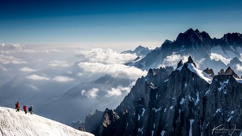 Descending Aiguille du Midi