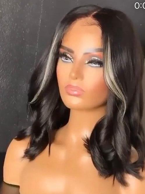 13x4 Lace Frontal  Highlights Oreo Handmade  Wig