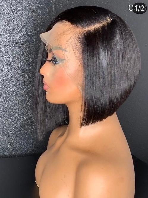 13x4 Frontal Lace Frontal Bob Handmade  Wig