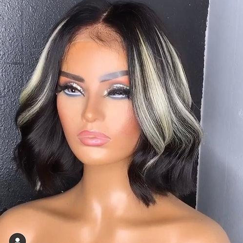 4x4 Lace Closure Highlights Oreo Handmade  Wig