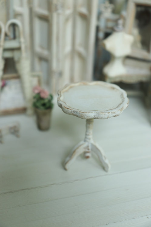 White Candlestick Table