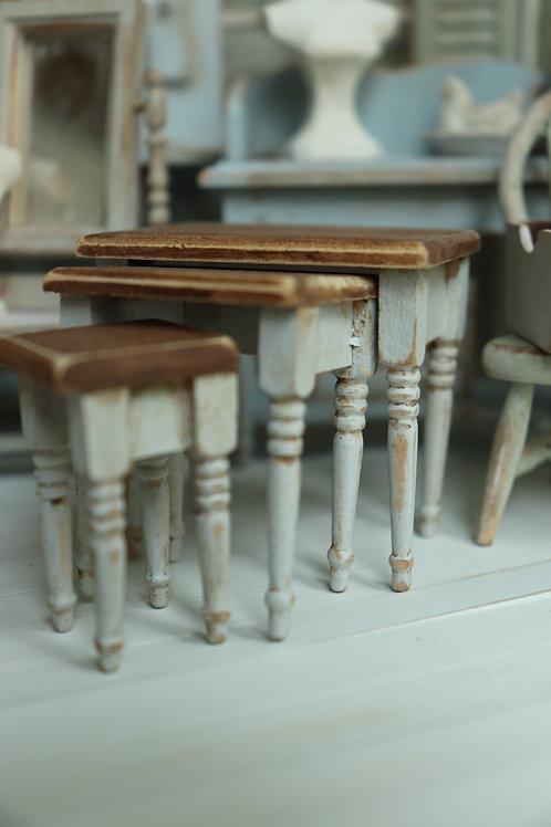 Gray Nesting Table Set