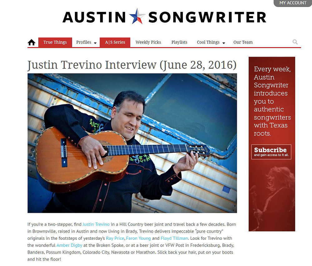Austin Songwriter Interview