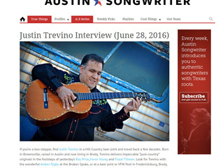 Austin Songwriter Interviews Justin Trevino