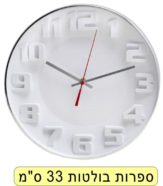 שעון סגור ספרות בולטות עגול
