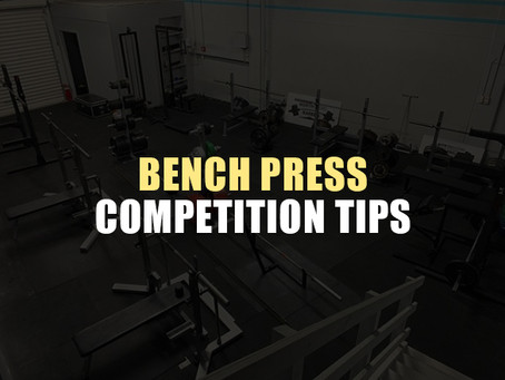 Be Less S**t   The Competition Bench Press