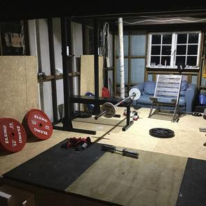 NSBB 2.0 in Jason's next garage. Featuring some Eleiko equipment