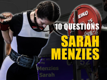 10 Questions with Sarah Menzies