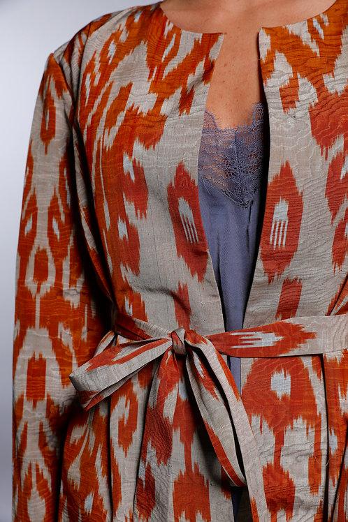 Orange Coat with Belt