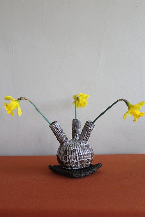 black bud vase