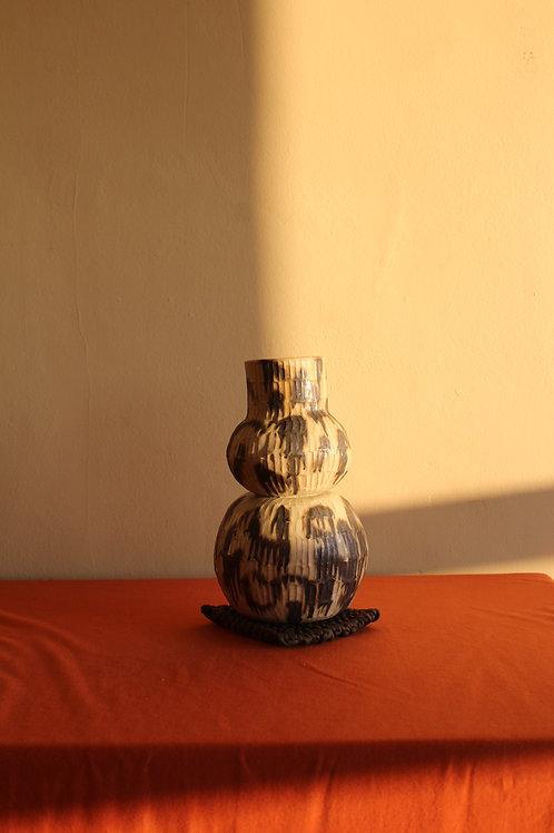 large copper ridged vase