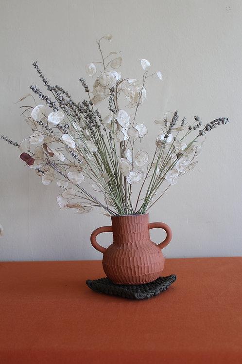 terracotta  handled vase