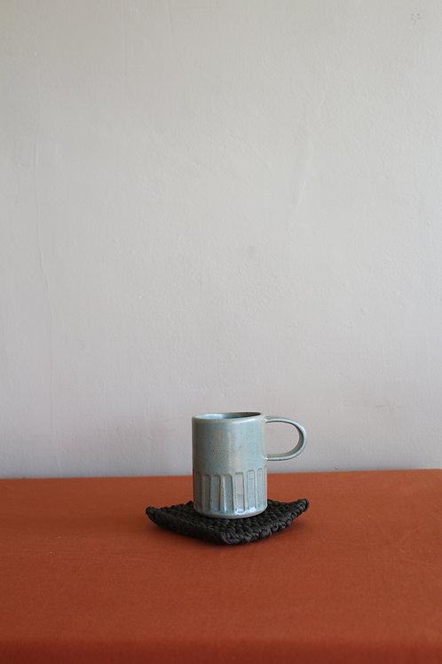 large celadon mug whole glaze