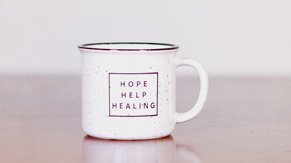 Hope, Help, Healing Coffee Mug