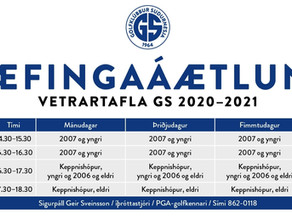 Æfingatafla GS 2020-2021