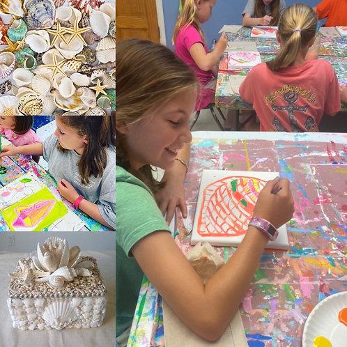 Open Studio Day Camp - Seashells & Trinket Treasures JUNE 4