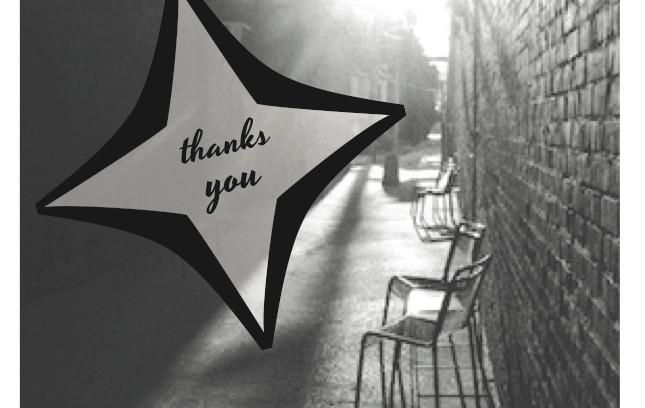 Sponsor thank-you card