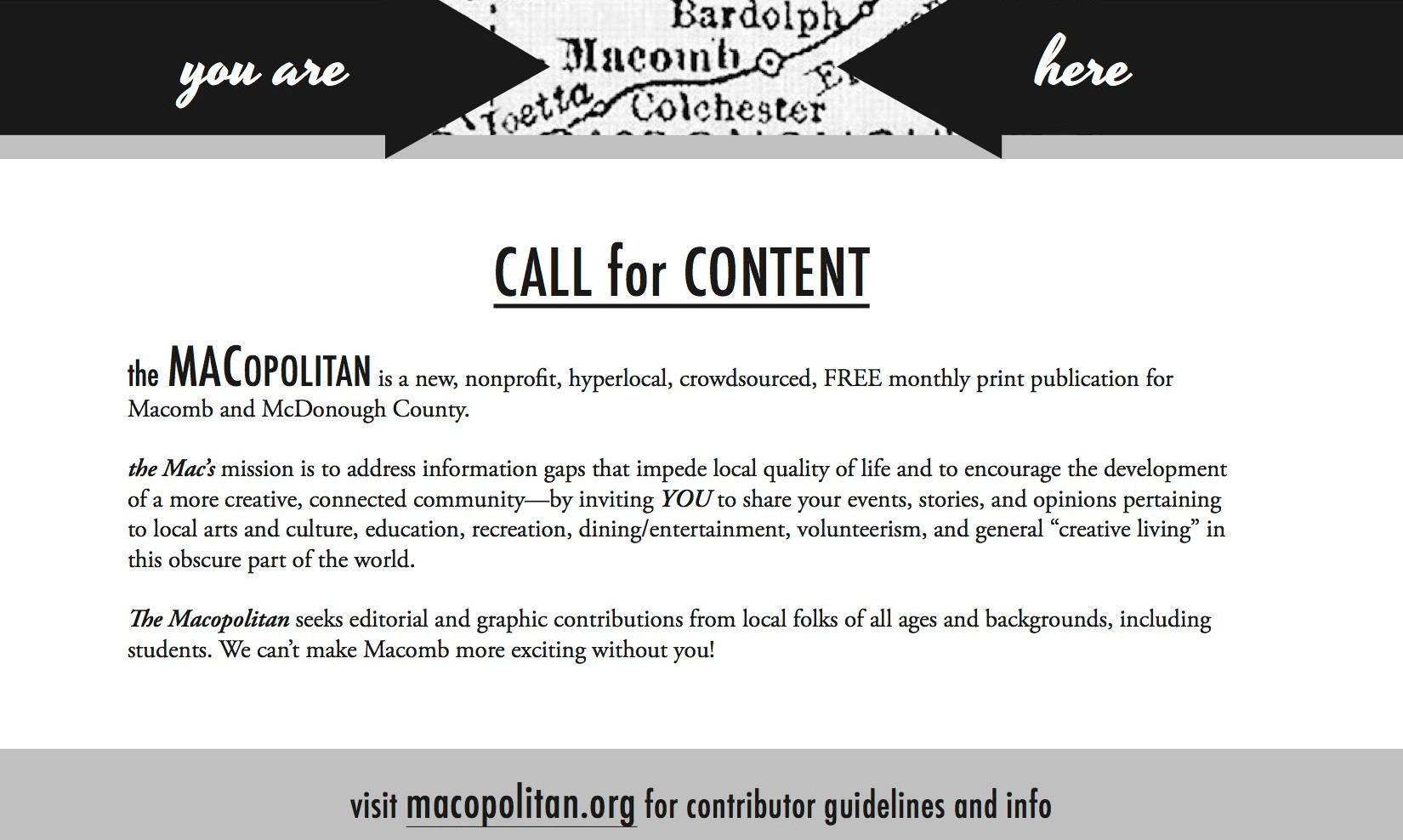 Flyer: call for student content