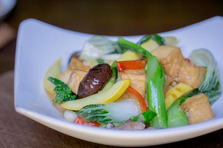 Brasied Tofu and Veg