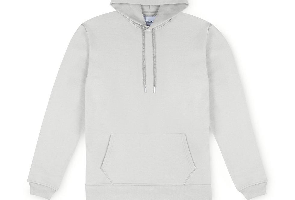 Essential Items Cloud Grey Hooded Sweatshirt front view