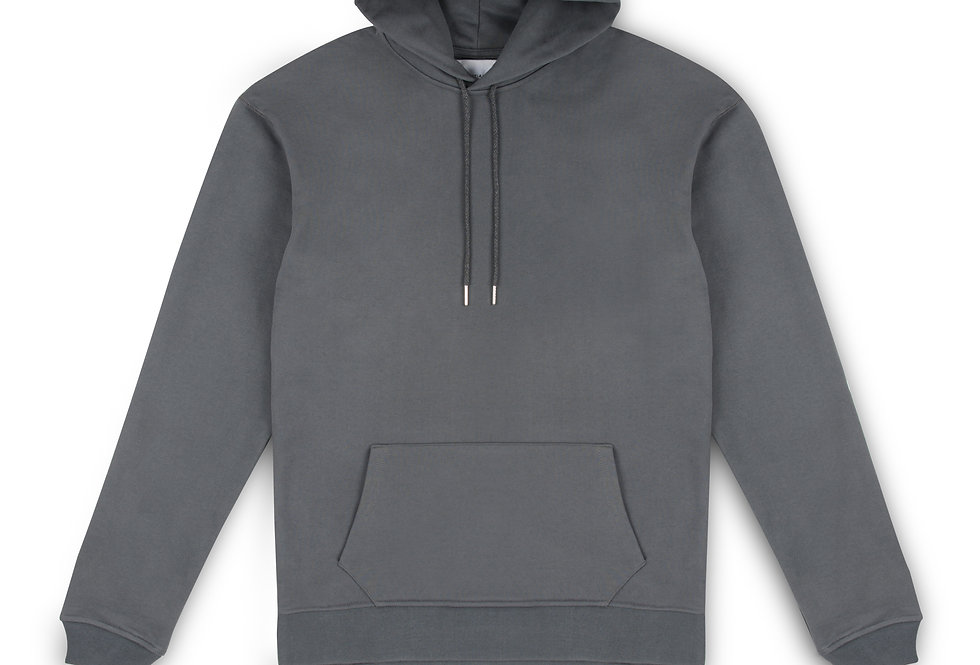 Essential Items Anchor Grey Hooded Sweatshirt front view